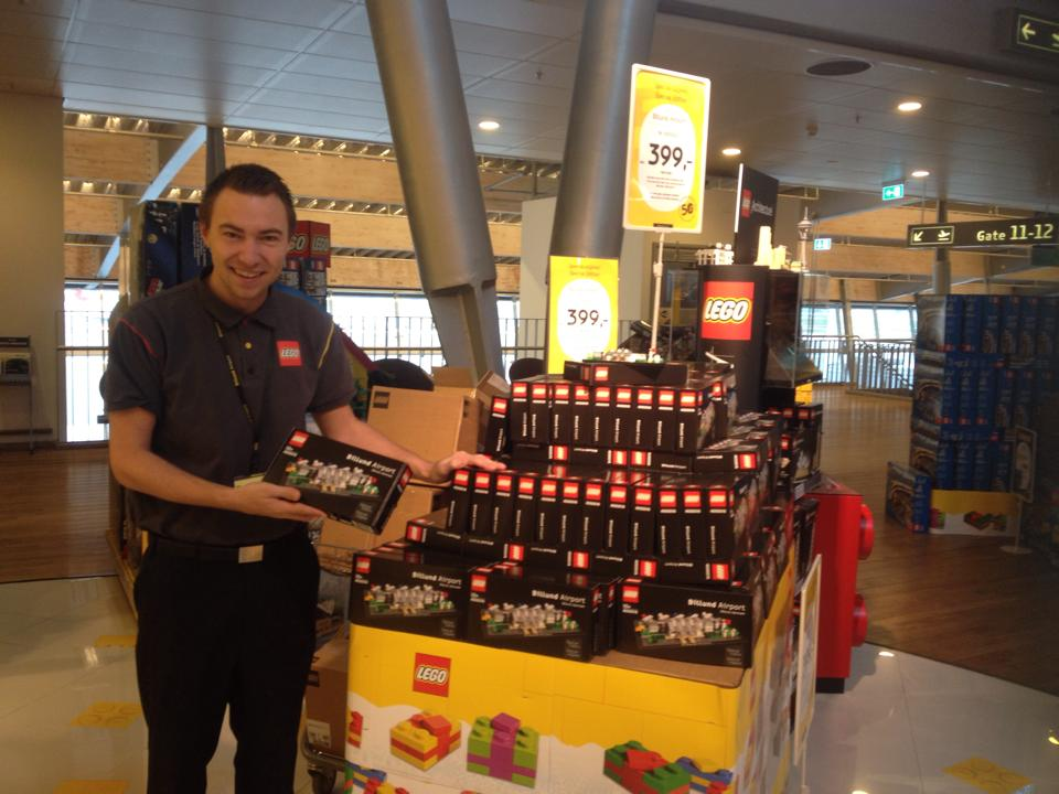 Designer Lennart Cort and the LEGO Billund Airport