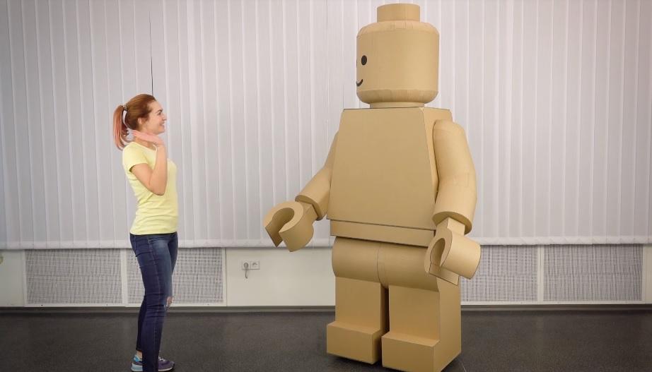 How to Make LEGO a Minifigure Cardboard Costume